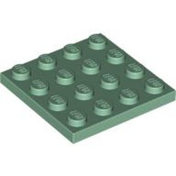 Sand Green Plate 4 x 4 - new