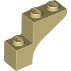 Tan Brick, Arch 1 x 3 x 2 - used