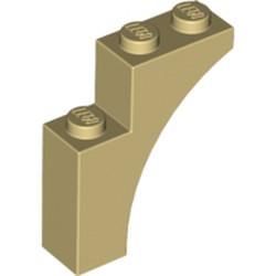Tan Brick, Arch 1 x 3 x 3 - new