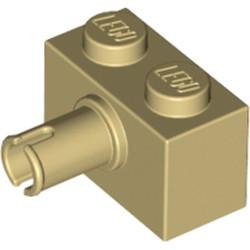 Tan Brick, Modified 1 x 2 with Pin - used