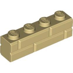 Tan Brick, Modified 1 x 4 with Masonry Profile