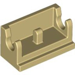 Tan Hinge Brick 1 x 2 Base - used