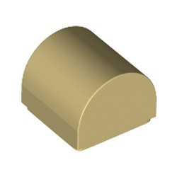 Tan Slope, Curved 1 x 1 Double - new