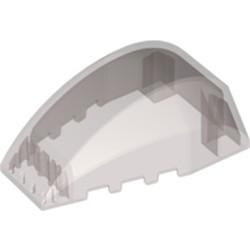 Trans-Black Windscreen 6 x 4 x 2 Wedge Curved