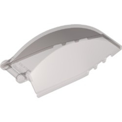 Trans-Black Windscreen 8 x 4 x 2 Curved with Bar Handle