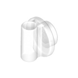 Trans-Clear Plate, Round 1 x 1 with Bar Handle - new