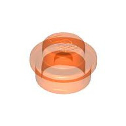 Trans-Neon Orange Plate, Round 1 x 1 - used