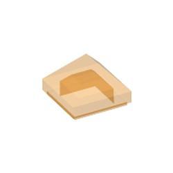 Trans-Orange Slope 45 1 x 1 x 2/3 Quadruple Convex Pyramid - new