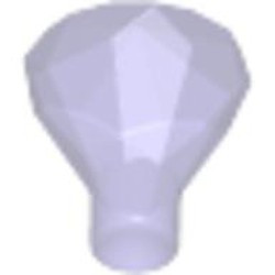 Trans-Purple Rock 1 x 1 Jewel 24 Facet - new