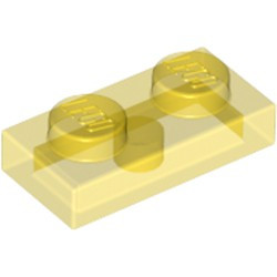 Trans-Yellow Plate 1 x 2