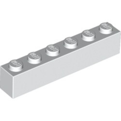 White Brick 1 x 6 - new