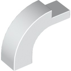 White Brick, Arch 1 x 3 x 2 Curved Top - used