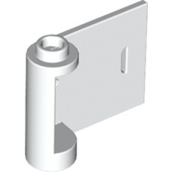 White Door 1 x 3 x 2 Right - Open Between Top and Bottom Hinge - used