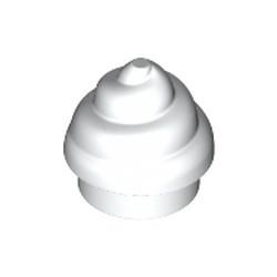 White Plate, Round 1 x 1 with Horizontal Swirl / Twist
