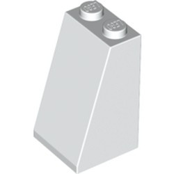 White Slope 75 2 x 2 x 3 - Solid Studs