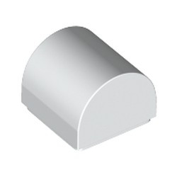 White Slope, Curved 1 x 1 Double