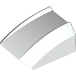White Slope, Curved 2 x 2 Lip