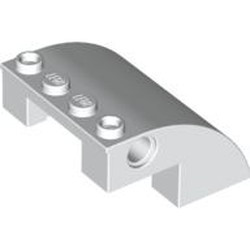 White Slope, Curved 4 x 4 x 2 with Holes