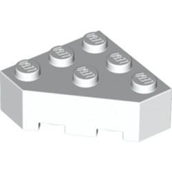 White Wedge 3 x 3 Facet - new