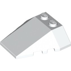White Wedge 4 x 4 Triple with Stud Notches