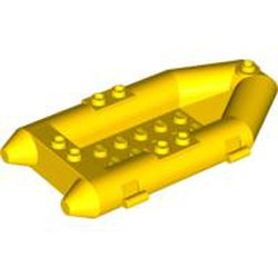 Yellow Boat, Rubber Raft, Small