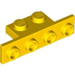 Yellow Bracket 1 x 2 - 1 x 4