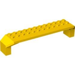 Yellow Brick, Arch 2 x 14 x 2 1/3 - used