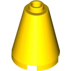 Yellow Cone 2 x 2 x 2 - Open Stud - used