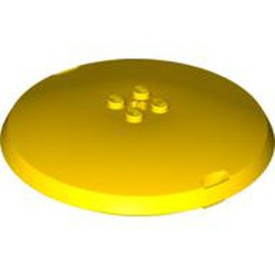 Yellow Container, X-Pod Top Cap 9 x 9 x 1 1/3 - used