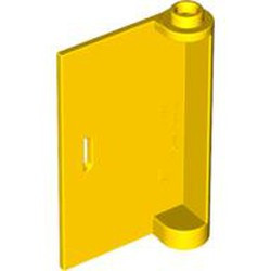 Yellow Door 1 x 3 x 4 Left - Open Between Top and Bottom Hinge - used
