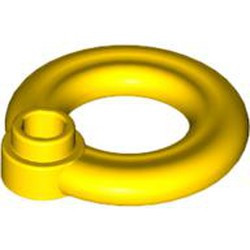 Yellow Minifigure, Utensil Flotation Ring (Life Preserver) - used