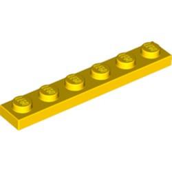 Yellow Plate 1 x 6