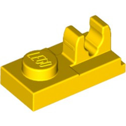 Yellow Plate, Modified 1 x 2 with Clip on Top - new