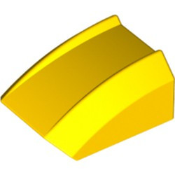 Yellow Slope, Curved 2 x 2 Lip - used