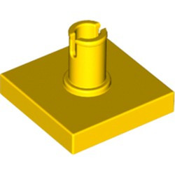 Yellow Tile, Modified 2 x 2 with Pin - used