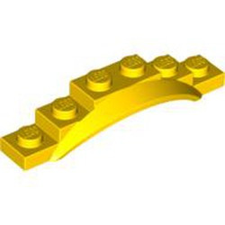 Yellow Vehicle, Mudguard 1 1/2 x 6 x 1 with Arch