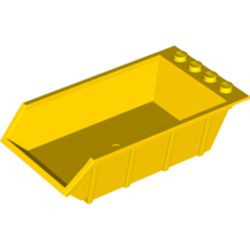 Yellow Vehicle, Tipper Bed 4 x 6, Solid Studs