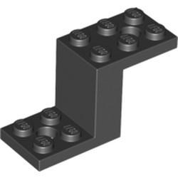 Black Bracket 5 x 2 x 2 1/3 with 2 Holes and Bottom Stud Holder - used