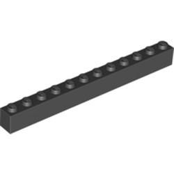 Black Brick 1 x 12