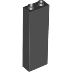 Black Brick 1 x 2 x 5 - Blocked Open Studs or Hollow Studs