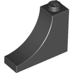 Black Brick, Arch 1 x 3 x 2 Inverted - new