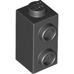 Black Brick, Modified 1 x 1 x 1 2/3 with Studs on 1 Side