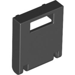 Black Container, Box 2 x 2 x 2 Door with Slot