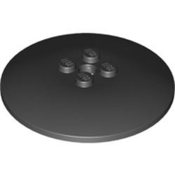 Black Dish 6 x 6 Inverted (Radar) - Solid Studs