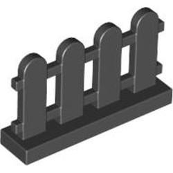 Black Fence 1 x 4 x 2 Paled (Picket)