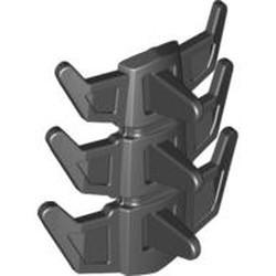 Black Hero Factory Spine Armor, Flexible