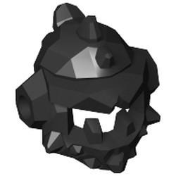 Black Minifigure, Headgear Helmet Spiked with Side Holes - used