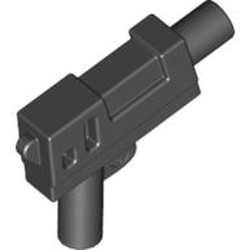 Black Minifigure, Weapon Gun, Pistol Automatic Medium Barrel (Indiana Jones) - used