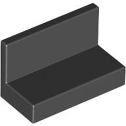 Black Panel 1 x 2 x 1 with Rounded Corners