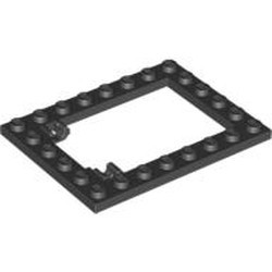 Black Plate, Modified 6 x 8 Trap Door Frame Horizontal (Long Pin Holders) - used
